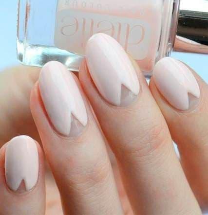 manicure ślubny efekt negatywu róż