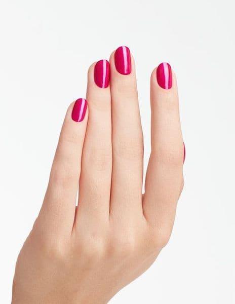 paznokcie na ślub jasna cera fuksjowy różowe
