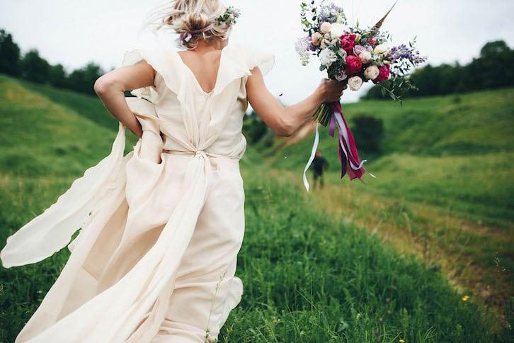 rustykalne wesele panna młoda wianek