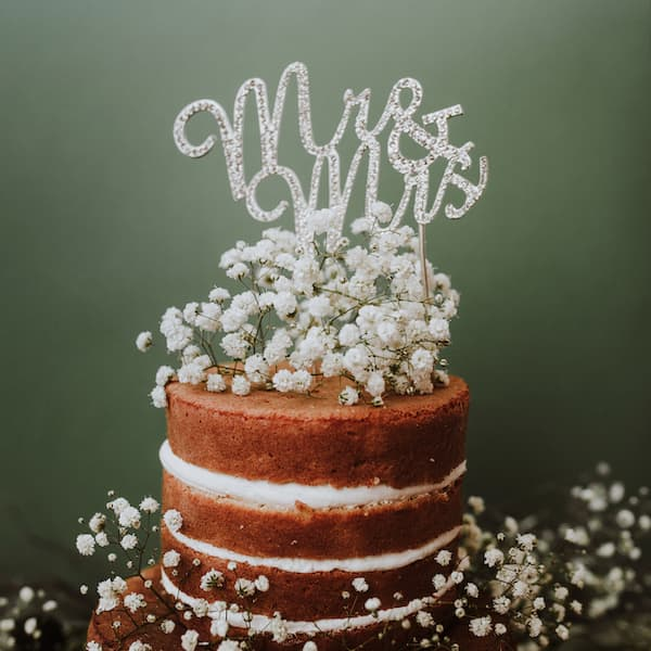 torty ślubne naked cake topper