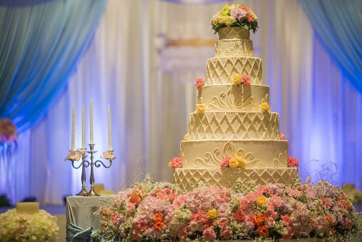 tort wesele wysoki glamour