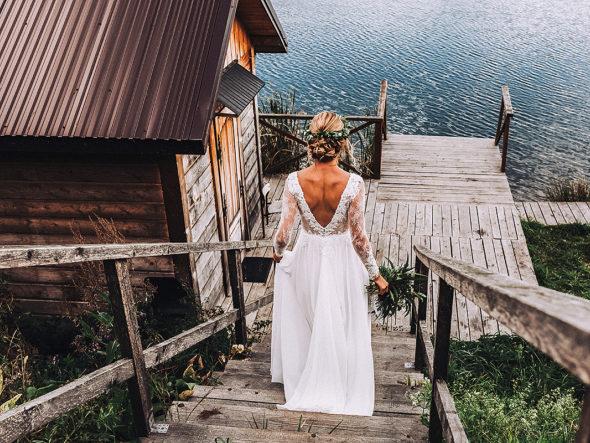 plener ślubny na stawach