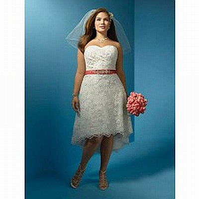 2.	Lacey short bridesmaid's dress