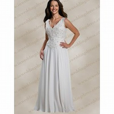 5.	V neck embroidered gown