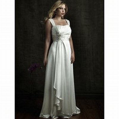 9.	Charmeuse satin gown