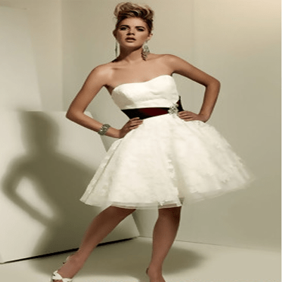 Ball Gown Tulle Short Wedding Dresses 2011