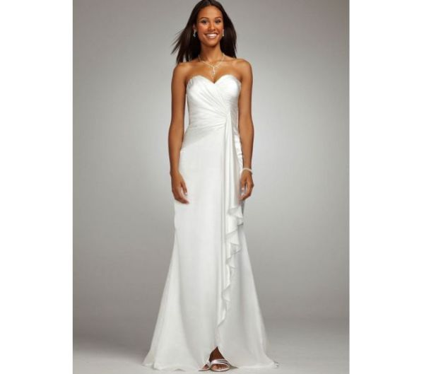 Bridal Long Soft Charmeuse Gown