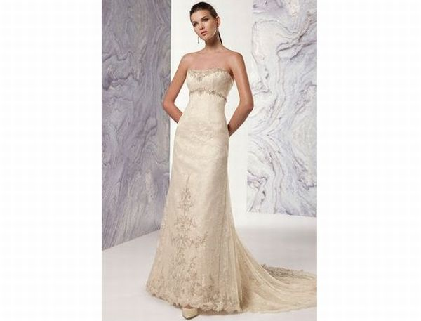 Claudine for Alyce Strapless empire waist gown