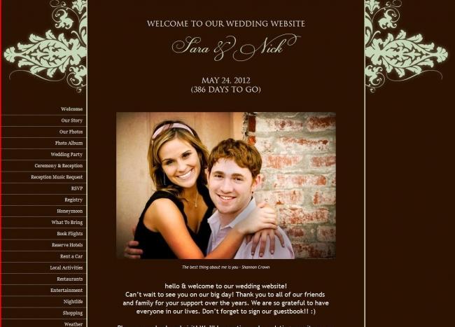 Creating your wedding website