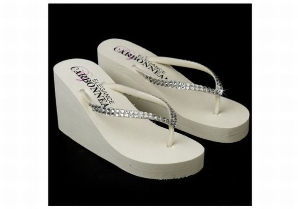Crystalized Bridal Flip Flops