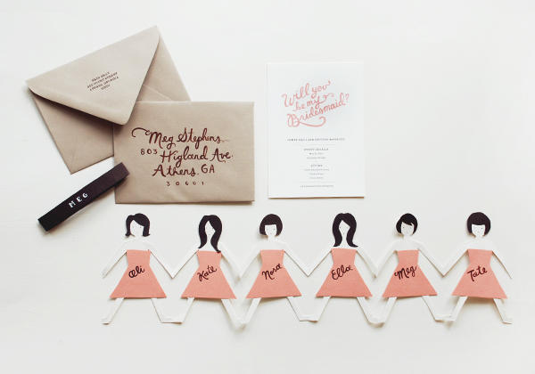 DIY Creative bridesmaid cards