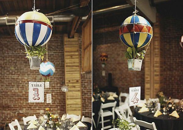 DIY Hanging miniature hot air balloons