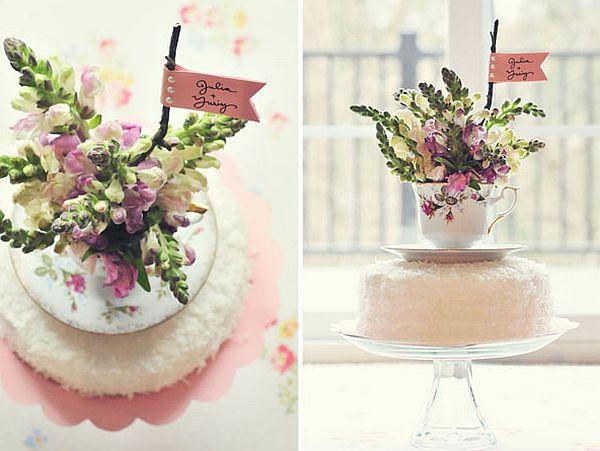 DIY Teacup cake topper