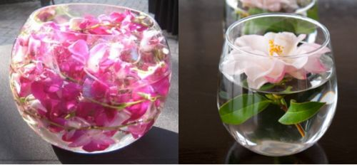 Floral floating vase filler