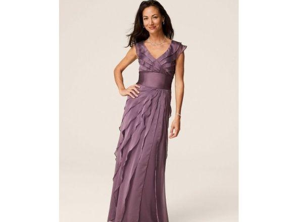 Flutter Sleeve Iridescent Chiffon Tiered Dress Style