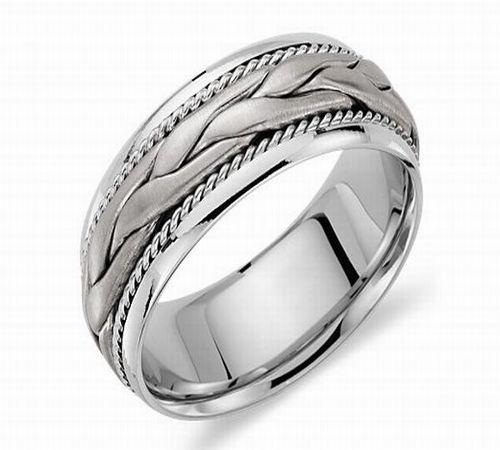 Hand Braided Men's Wedding Ring