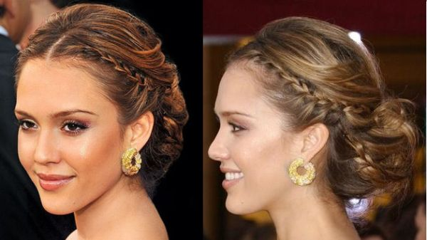 Jessica Alba's coaxed natural waves