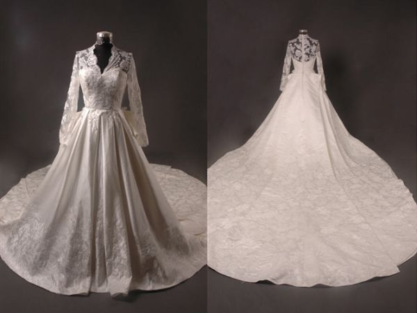 Kate Middleton Inspired Gown 2 Cathedral