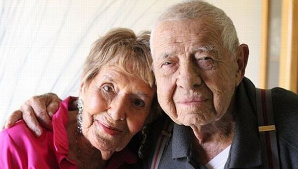 Lillian Hartley (95years) and Allan Marks (98years)