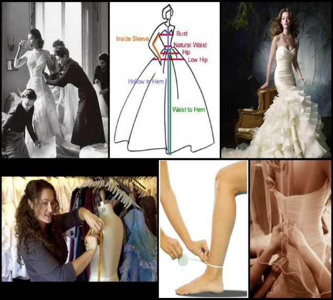 Measurements for wedding dress