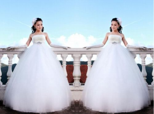 Ming Wedding Brand - Pregnant bride wedding dress