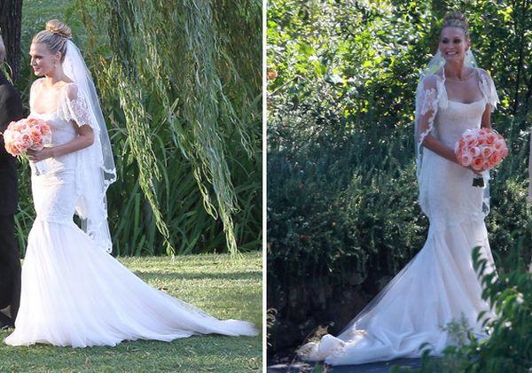 Molly Sims Marchesa Wedding Dress