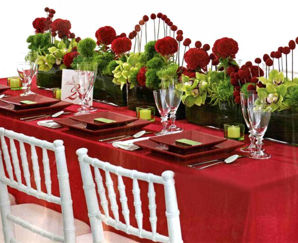 Red and Green Wedding Theme