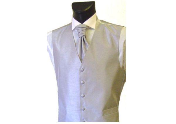 Shantung wedding waistcoat