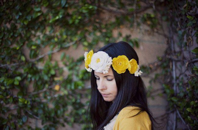 Silk flower crown for bride
