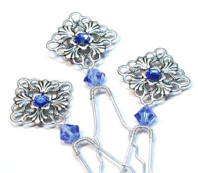 Victoria Filigree Crystal Bridal Hair Pins