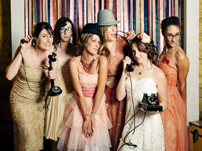 Vintage clothing for the bridesmaids