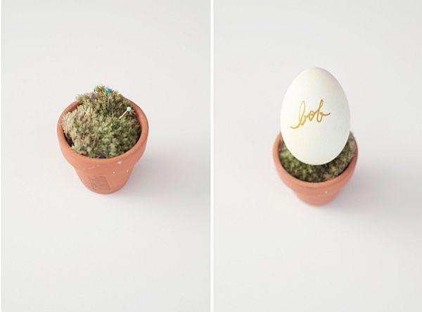 Watercolor Easter egg name settings