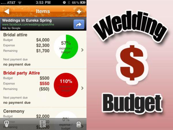 Wedding Budget app