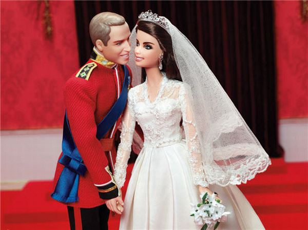 Will and Kate Barbie Doll Set