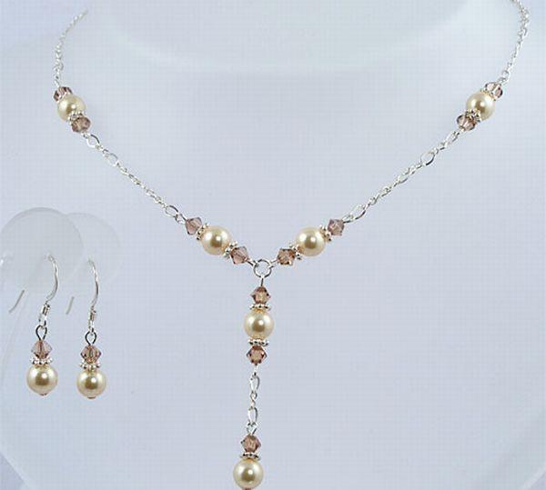 Y-style Swarovski Pearl