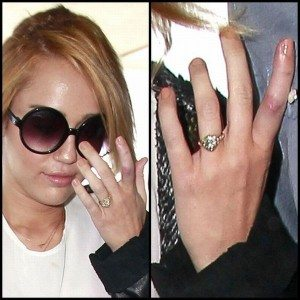 Miley-Cyrus's-engagement-diamond-ring