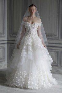MONIQUE LHUILLIER BRIDAL SS12 NEW YORK 04/10/11