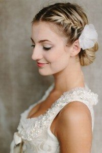Side-View-of-Braided-Bun-for-Wedding