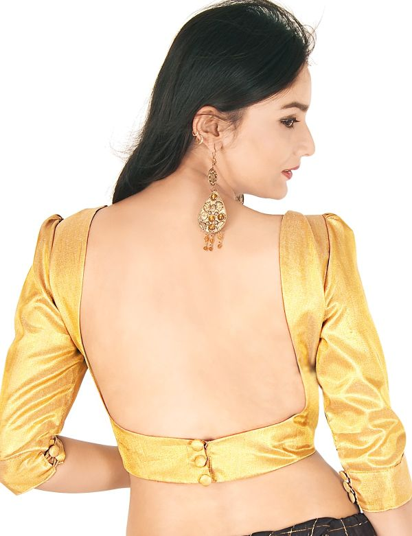 gold-tissue-choli-with-plain-sewn-buttons