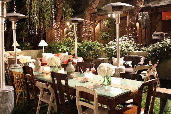 shabby chic wedding tables