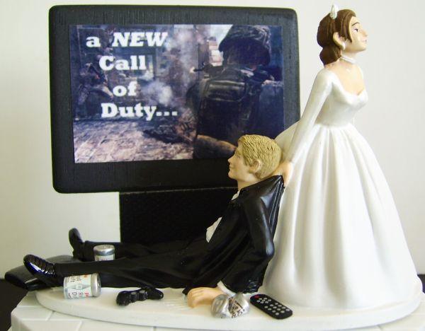 Video game groom's cake