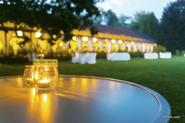dinner wedding reception outdoor