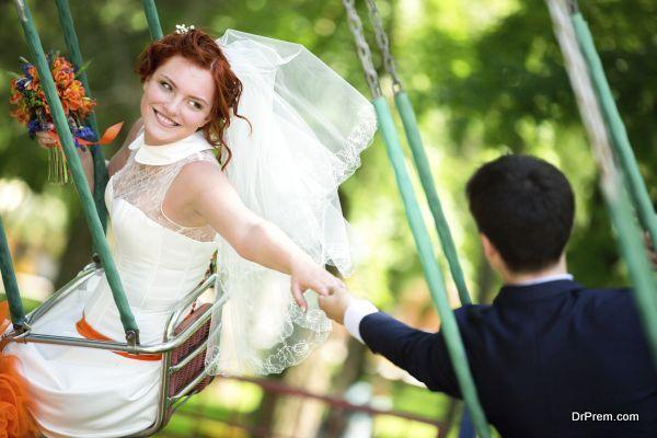 Wedding in a Merry-Go-Round