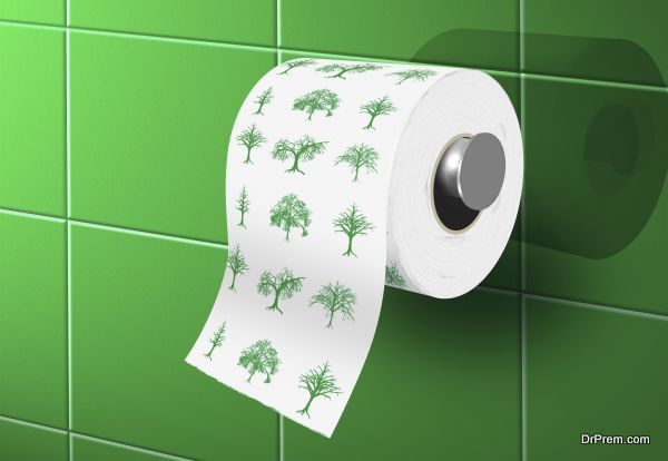 toilette paper with with ecological theme