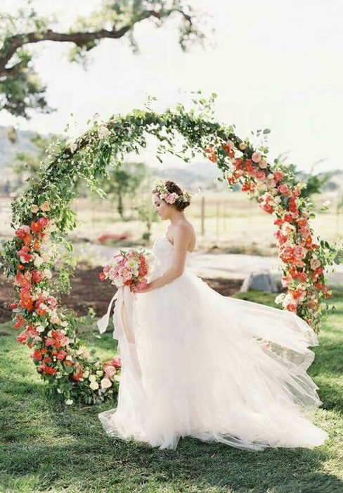 Wedding Arches With Hanging Decor Backdrop