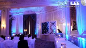 Uplighting with Blue Wedding Lighting