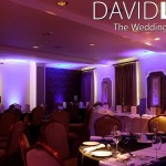 Purple Uplighting for Wedding Breakfast