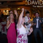 Guests dancing at the white hart