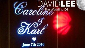 Wedding Monogram Projection