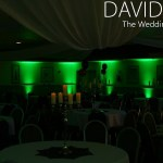 Green Uplighting at Altrincham Wedding